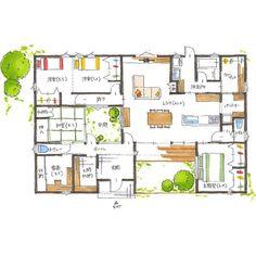 清家修吾さんはInstagramを利用しています:「. 【ボツプラン549】 玄関入って正面に、中庭へのドアと窓が並んでいますが、ドアと窓が並んでしまうとおしゃれさが無くなるのでやめたほうがいいです。中庭に出るだけなら和室の窓からでも良い気がしますが、地窓になってるのかな?…」 Sims House Design, Interior Design Sketches, Project 4, Concept Architecture, Japanese House, House Layouts, Photo Booth, House Plans, Floor Plans
