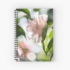 Pink Camellia Spiral Notebook, Pink Flower Notebook, Inspirational Diary, Gratitude Journal for Her, Writing Gift for Her, Floral Notebook