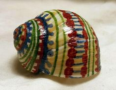 Hand-painted Snail Shell Embroidered Colors