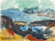 Toss Woollaston Landscape Paintings, Landscapes, Painters, Art Boards, New Zealand, Watercolour, Artists, Inspiration, Paisajes