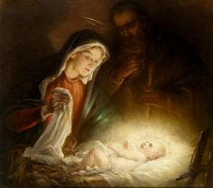 """""""Paintings of Jesus Birth"""" - by Rosa Schweninger – Austrian) Images Du Christ, Pictures Of Christ, The Birth Of Christ, Birth Of Jesus, Merry Christmas, Christmas Nativity, Religious Photos, Jesus Painting, Happy Birthday Jesus"""