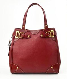 Louis Vuitton Red Leather Le Majestueux Suhali Tote Handbag Bag