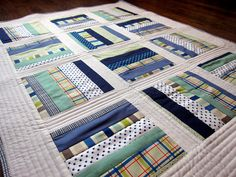 Seaside Baby Quilt by SewingbyJenn on Etsy, $125.00
