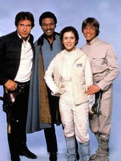 I love how Harrison Ford always looks bored in all group photos