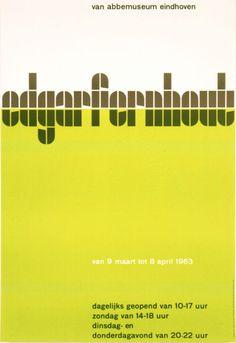 Edgar Fernhout poster by Wim Crouwel, 1963