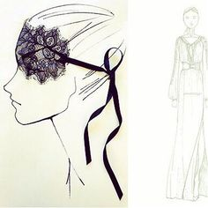 Sketches from the Altuzarra for Target Collection; Bought the Lingerie almost entirely for the LACE mask!