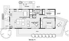 2 bedroom under 1000sf