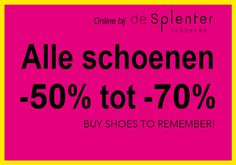 Wij willen van onze schoenen af en daar profiteer jij van! NU alle damesschoenen en herenschoenen uit de herfst/winterscollectie KORTING -50% t/m -70% Sale 50, 50th, Logos, News, Logo