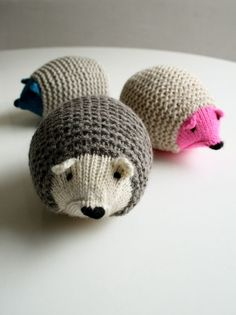 Knit Hedgehogs - the purl bee.