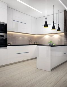 If you are looking for Minimalist Kitchen Design Ideas, You come to the right place. Below are the Minimalist Kitchen Design Ideas. Grey Kitchens, Luxury Kitchens, Cool Kitchens, Design De Configuration, Layout Design, Design Ideas, Mim Design, Shape Design, Door Design