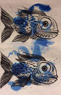 Blue fish Book Art, Mixed Media, Illustrations, Fish, Embroidery, Artwork, Prints, Blue, Ideas