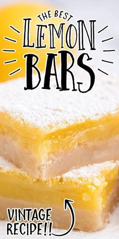 Lemon Dessert Recipes, Homemade Desserts, Lemon Recipes, Desert Recipes, Baking Recipes, Delicious Desserts, Lemon Pie Bars, Lemon Cheesecake Bars, Lemon Blueberry Loaf