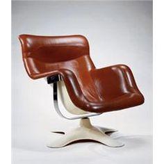 "YRJÖ KUKKAPURO ""Karuselli"" Chair, ca. 1965 manufactured by Haimi-Oy fiberglass and vinyl."