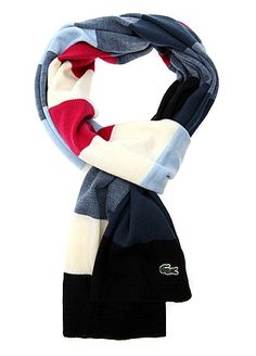 This is a Lacoste scarf...pinning as I like the colour combo