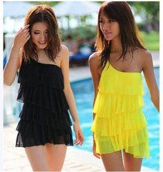 Bikini Vestido Playa Blanco Negro Azul Amarillo Envio Gratis