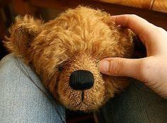 Bearing All: Eye, eye! How to sew in a stuffed bear's eyes.