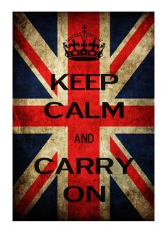 Keep Calm and Carry On With Union Jack 13x19 by KeepCalmArtPrints