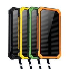 Dual USB Port Solar/Electric Power Bank - Ultra Thin & Rugged - Water, Dirt and Shatter Proof