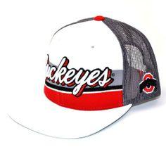 best authentic 9c17c 08476 NCAA Ohio State Buckeyes B-Boy Adjustable Snapback Cap, White Grey, One