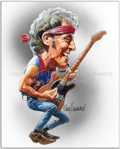 Bruce Springsteen Limited Edition Celebrity Caricature by Don Howard