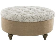 Aidan Tufted Round Ottoman/Coffee Table