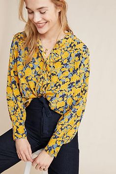 Faithfull The Brand Womens Wovens Beau Rivage Button Up Blouse Swim Cover Up