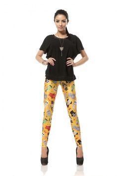 Cartoon Mummy City Color Printing Leggings Pant
