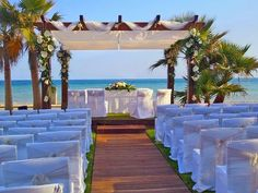 The perfect setting for the ceremony - Marinas de Nerja, right on the beachfront. Posted by Costa del Sol Wedding DJs, www.chicadjs.com