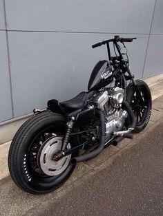 Harley davidson sporster 883 - brat style ( http://www.crazyorangemc.com)