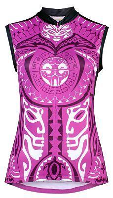 Pacific Tribal Sleeveless Cycling Jersey. Yellowman YMX gear