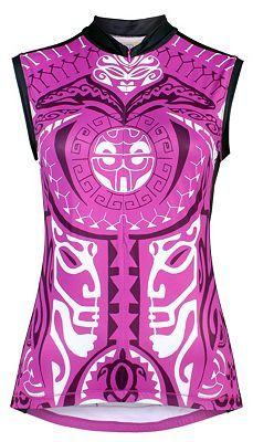 Pacific Tribal Sleeveless Cycling Jersey. Yellowman YMX gear