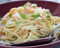 Spaghettis aux carottes, cream cheese et parmesan à moins de 200 calories par personne : http://www.fourchette-et-bikini.fr/recettes/recettes-minceur/spaghettis-aux-carottes-cream-cheese-et-parmesan-moins-de-200-calories-par