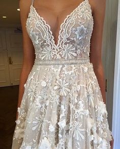 Love the lace and embroidery of this material