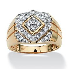 Men's 1/4 TCW Round Diamond Geometric Ring in 10k Gold From Lux List Price:	$1,260.00 Price:	$549.99 http://jewels411.com EZ