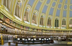 The reading room of the British Museum (London).... | Around the World in 80… #libraries