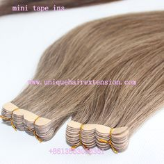 Mini tape ins, mini tape in extensions, factory price with the best quality, the hair very soft, tangle free no shedding, can cut the size you want, there are so many fashion color you can choose, also can produce your own color ring. accept sample order to test the quality, contact our factory to get more details. Qingdao Unique Hair Products Co.,Ltd. www.uniquehairextension.com sales@uniquehairextension.com Whatsapp: +8613553058361 Tape In Hair Extensions, Qingdao, Unique Hairstyles, Color Ring, Fashion Colours, Hair Products, Bobby Pins, Hair Accessories, Mini