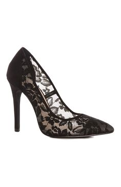 Black Lace Court Shoe Is Available For You All Heel Lover Ladies From Primark