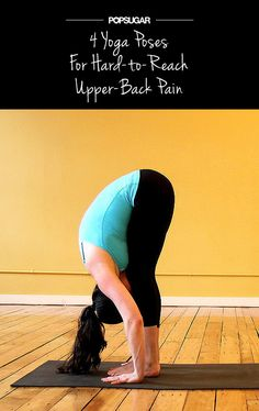 Relieve Hard-to-Reach Upper-Back Tension With Yoga upper back pain Upper Back Pain, Yoga For Back Pain, Fitness Tips, Fitness Motivation, Health Fitness, Fitness Band, Rogue Fitness, Fitness Gear, Mantra