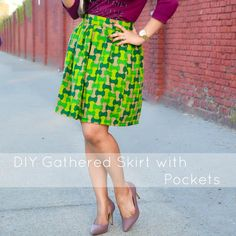 ACT Style Blog: DIY Gathered Skirt with Pockets.