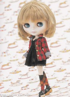 Kenner Blythe Classic Casual One Piece Dress and Jacket set E PATTERN in Japanese crafts pdf doll fashion clothes