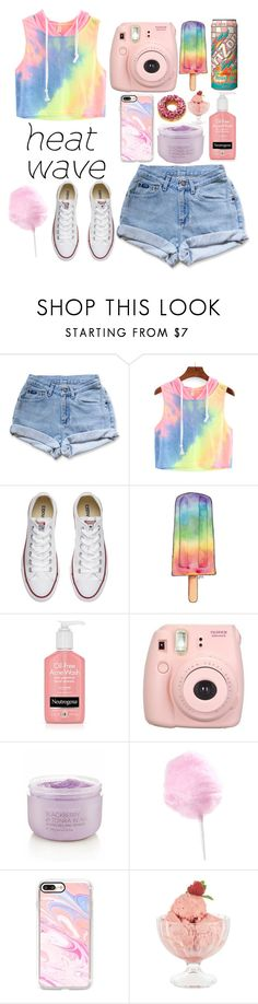 """""""How to dress for a heat wave"""" by a-hidden-secret ❤ liked on Polyvore featuring Levi's, Converse, Fujifilm, Victoria's Secret, Casetify and Bormioli Rocco"""