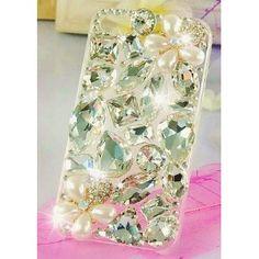 $38.49  BIG BLING 3d Handmade Swarovski Crystal & Rhinestone Flower Iphone 4 case/cover by Jersey Bling