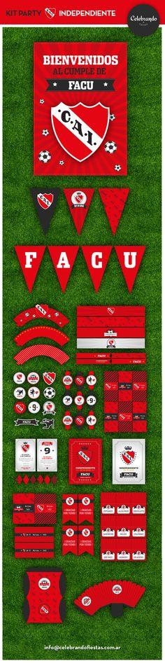 Kit imprimible Club Independiente - Celebrando Fiestas