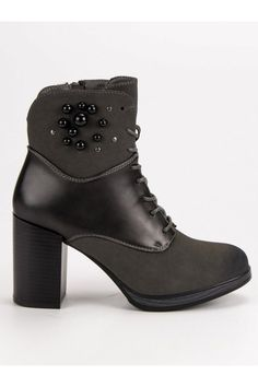 Čierne topánky na opätku Vinceza Mustang, Platform, Booty, Ankle, Heels, Fashion, Heel, Moda, Mustangs