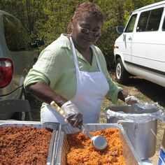 Gullah Food Festival, North Carolina: In the middle of a field, tables are set up to serve food. The specialties are a combination of low country cuisine (shrimp, grits, she-crab soup) and soul food (collard greens, red rice, beans or black-eyed peas and smothered pork chops.