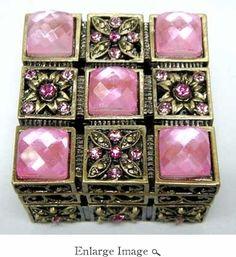 Jeweled & Enameled Pamela Pink Jewel Box