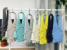 Items similar to Crochet net shopper bag with round handles, Beige designer net bag, Urban chic net bag on Etsy Macrame Colar, Macrame Purse, Macrame Art, Macrame Projects, Macrame Knots, Macrame Jewelry, Net Bag, String Bag, Macrame Patterns