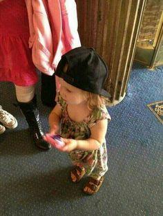 Lux is wearing Harry's snapback