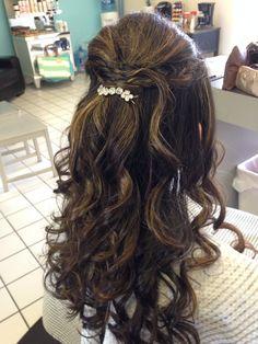 Prom updo. Half up half down. Salon A Go-Go! My Prom Hair!!!!!