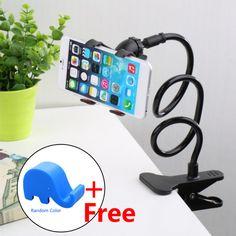 Lovise Desktop Phone Holder Cell Phone Clip Holder for Desktop Office Rotate Freely Lazy Bracket Holder